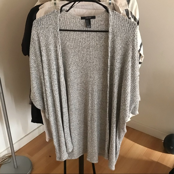 Forever 21 Jackets & Blazers - Forever 21 - Gray Cover Up